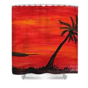 Florida Sunset II Shower Curtain