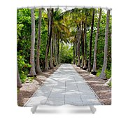 Florida Walkway Shower Curtain