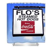 Flo's Steamed Hot Dogs Shower Curtain