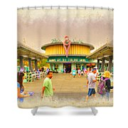Flo's V8 Diner Shower Curtain