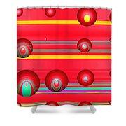 Flotation Devices - Lipstick Shower Curtain
