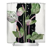 Flower Anthurium 02 Elena Yakubovich Shower Curtain by Elena Yakubovich
