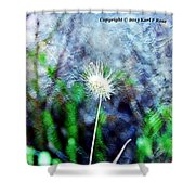 Flower As A  Painting Shower Curtain