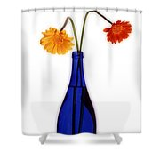 Flower Blues Shower Curtain