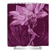 Flower Bomb One Reticulation Shower Curtain