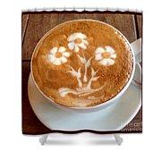 Flower Bouquet Latte Art Shower Curtain