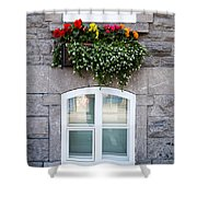 Flower Box Old Quebec City Shower Curtain