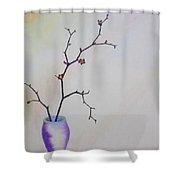 Flower Bud Shower Curtain