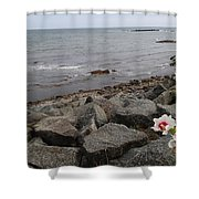 Flower By The Sea Shower Curtain