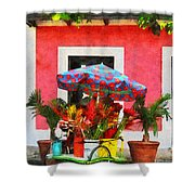 Flower Cart San Juan Puerto Rico Shower Curtain
