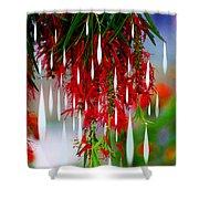 Flower Chandelier Shower Curtain