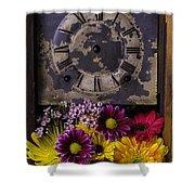 Flower Clock Shower Curtain