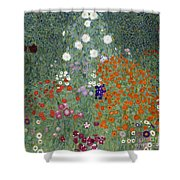 Flower Garden Shower Curtain by Gustav Klimt