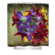 Flower - Garden Joy - Luther Fine Art Shower Curtain