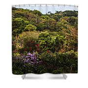 Flower Garden On A Hill Shower Curtain