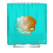 Flower Glow Shower Curtain