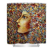 Flower Goddess. Shower Curtain