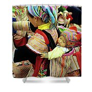 Flower Hmong Baby 03 Shower Curtain
