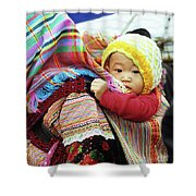 Flower Hmong Baby 04 Shower Curtain