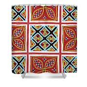 Flower Hmong Embroidery 01 Shower Curtain