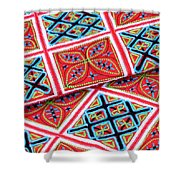 Flower Hmong Embroidery 02 Shower Curtain