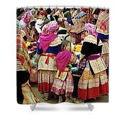 Flower Hmong Girl 01 Shower Curtain