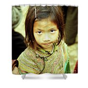 Flower Hmong Girl 02 Shower Curtain