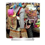 Flower Hmong Mothers And Babies Shower Curtain