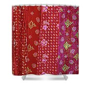 Flower Hmong Velvet Shower Curtain