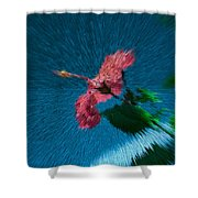 Flower In Space Shower Curtain