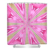 Flower Kaleidoscope Shower Curtain