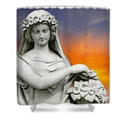 Flower Lady Shower Curtain