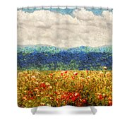 Flower - Landscape - Fragrant Valley Shower Curtain by Mike Savad