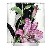 Flower Lily 02 Elena Yakubovich Shower Curtain