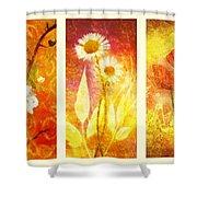 Flower Love Triptic Shower Curtain