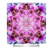 Flower Of Life Lily Mandala Shower Curtain
