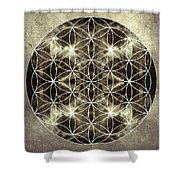 Flower Of Life Silver Shower Curtain
