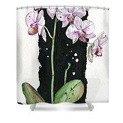 Flower Orchid 02 Elena Yakubovich Shower Curtain by Elena Yakubovich