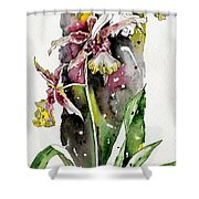 Flower Orchid 03 Elena Yakubovich Shower Curtain