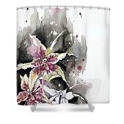 Flower Orchid 12 Elena Yakubovich Shower Curtain by Elena Yakubovich