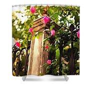 Flower Post Shower Curtain