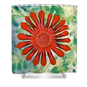Flower Power 1438 Shower Curtain