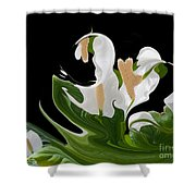 Flower Power Abstract Shower Curtain