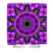 Flower Power Shower Curtain by Kristie  Bonnewell