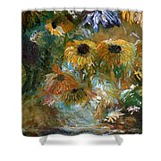 Flower Rain Shower Curtain