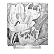 Flower Sketch Shower Curtain