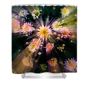Flower Song On Fairy Wing Shower Curtain