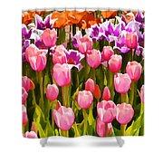Flower Splash IIi Shower Curtain