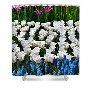 Flower Splash X Shower Curtain