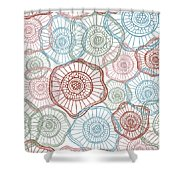 Flower Squiggle Shower Curtain